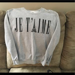 Smithson JE T' AIME SWEATSHIRT medium